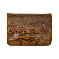 B Grade Mbour KENZINA Python Clutch Natural Polished