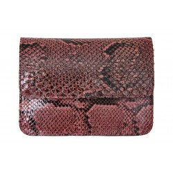 B Grade Mbour KENZINA Python Clutch Pink Polished