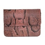 B Grade Mbour KENZINA Python Clutch Dusty Rose Polished