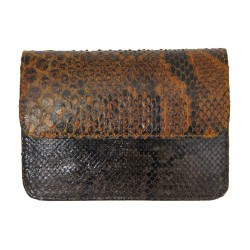 B Grade Mbour KENZINA Python Clutch Yellow Brown Pink