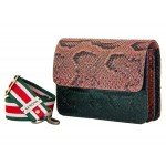 B Grade Mbour KENZINA Python Clutch Mix Rose Green Red Yellow