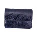 B Grade Mbour KENZINA Python Clutch Blue Polished