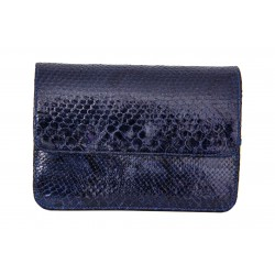B Grade Mbour KENZINA Python Clutch Blue Polished