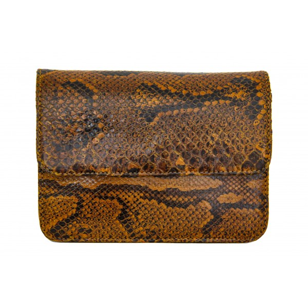B Grade Mbour KENZINA Python Clutch Natural Polished