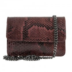 Mbour KENZINA Python Clutch Brown Polished