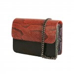 Mbour KENZINA Python Clutch Mix Black Red Green Blue