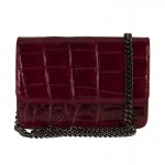 Mbour KENZINA Clutch Crocodile Bordeaux Polished