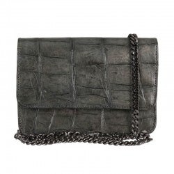 Mbour KENZINA Crocodile Clutch Grey Matt