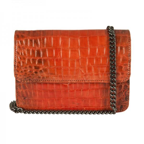 Mbour KENZINA Crocodile Clutch Orange
