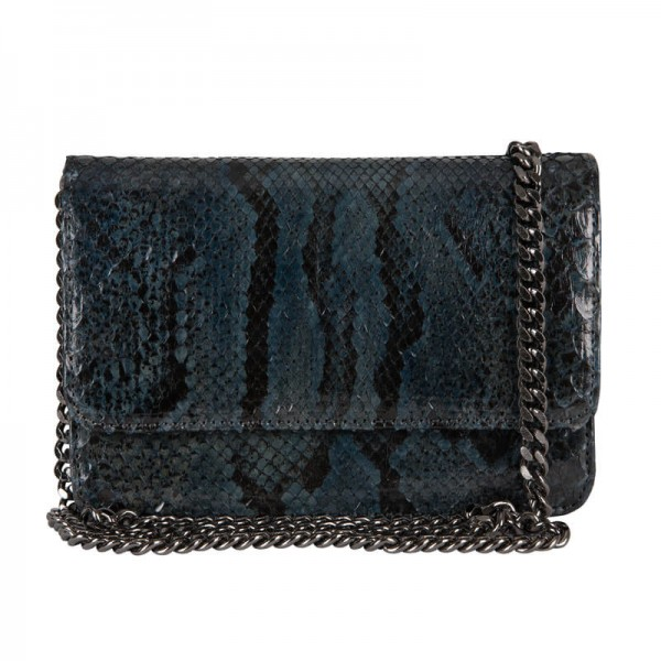 Mbour KENZINA Python Clutch Blue/Grey Polished