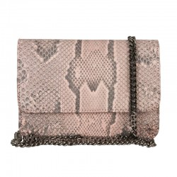 Mbour KENZINA Python Clutch Dusty Rose Matte