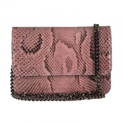 Mbour KENZINA Python Clutch Dusty Rose Polished