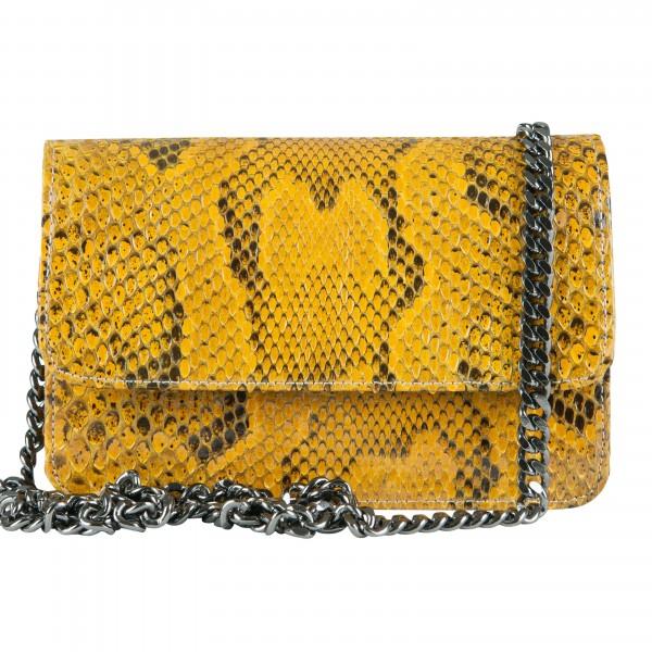 Mbour KENZINA Python Clutch Yellow