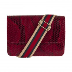 Mbour KENZINA Python Clutch Red Polished