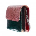 Mbour KENZINA Python Clutch Mix Rose Green Black Red Yellow Blue
