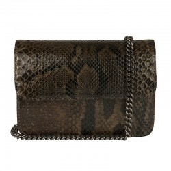 Mbour KENZINA Python Clutch Grey Polished