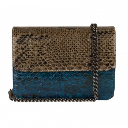 Mbour KENZINA Python Clutch Mix Grey Blue