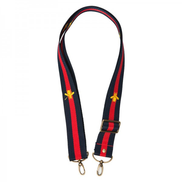 Strap - Blue/Red/Blue with Bee